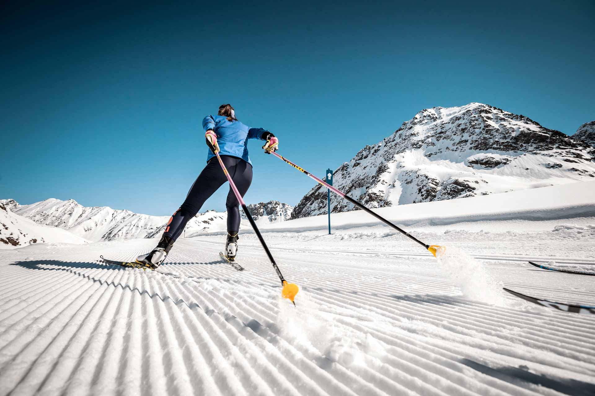 langlaufen-am gletscher