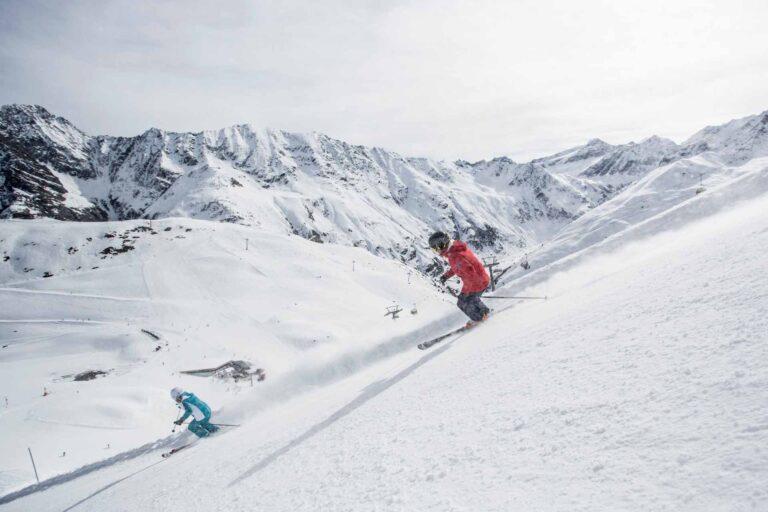 Skifahren am Rifflsee
