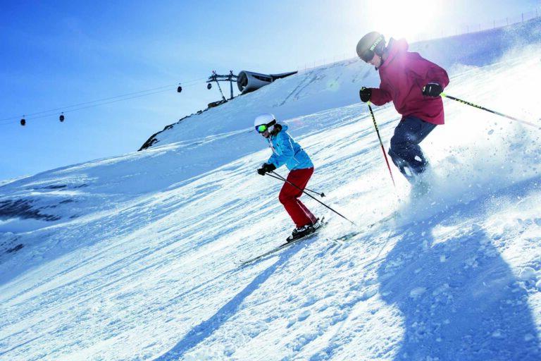 Skifahren im Pitztal am Gletscher